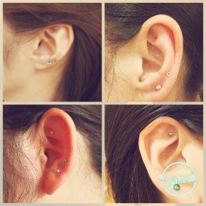 耳つぼ体験&紫ハーバリウム制作